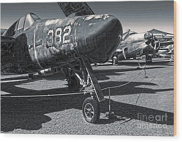 Grumman Tigercat F7f-3n  -  02 Wood Print by Gregory Dyer