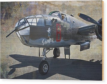 Grumpy  B-25 D Mitchell Bomber  /  43-3318 Wood Print by Daniel Hagerman
