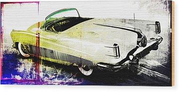 Grunge Retro Car Wood Print by David Ridley