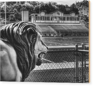 Gshs Lion Wood Print by Coby Cooper