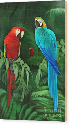 Guacamayos Wood Print by Ivan  Pawluk