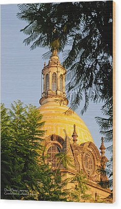 Wood Print featuring the photograph The Grand Cathedral Of Guadalajara, Mexico - By Travel Photographer David Perry Lawrence by David Perry Lawrence
