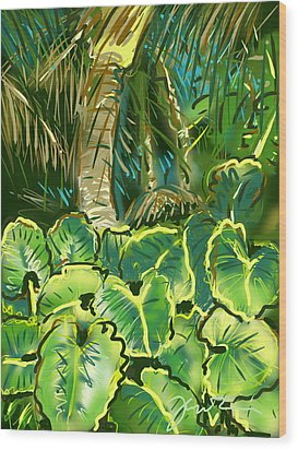 Wood Print featuring the painting Guanabana Tropical by Jean Pacheco Ravinski