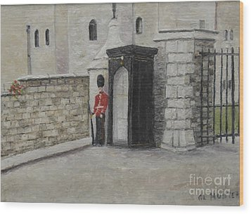 Guard At Windsor Castle Wood Print
