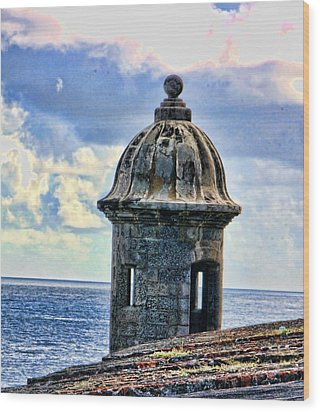 Guard Tower At El Morro Wood Print by Daniel Sheldon