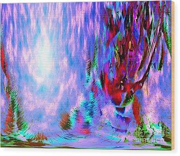 Guardian Angel  Wood Print by Annie Zeno