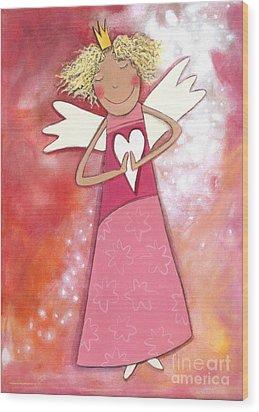 Guardian Angel For Girls Wood Print by Sonja Mengkowski