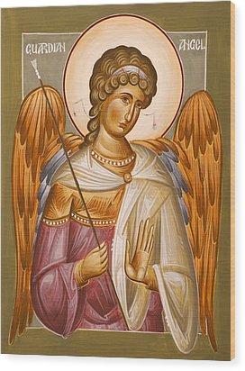 Guardian Angel Wood Print by Julia Bridget Hayes