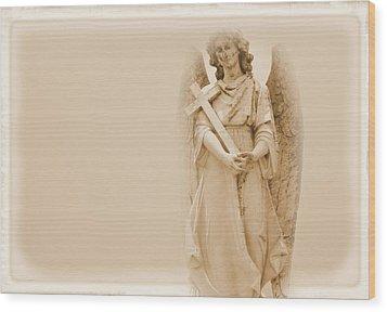 Guardian Angel Wood Print by Nadalyn Larsen