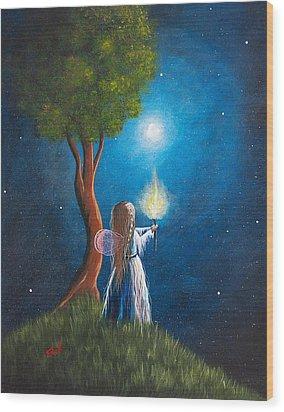 Guardian Of Light By Shawna Erback Wood Print by Shawna Erback