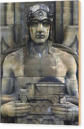 Guardian Of Traffic Wood Print by Patricia Januszkiewicz