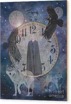 Guardians Of Time Wood Print by Judy Wood