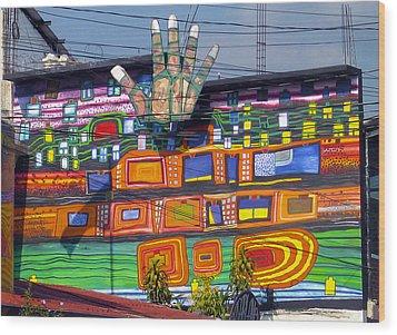 Guatemala Street Art 1 Wood Print by Kurt Van Wagner