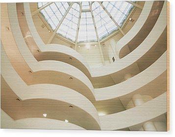 Guggenheim Curves Wood Print