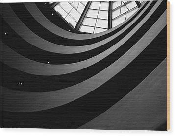 Guggenheim Inside 2 Wood Print by Becky Kozlen