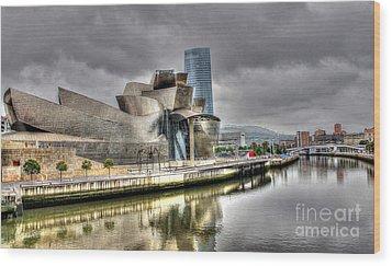 Guggenheim Museum Bilbao  Wood Print by Ines Bolasini