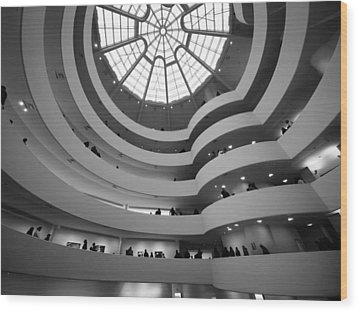 Wood Print featuring the photograph Guggenheim Museum - Interior by James Howe