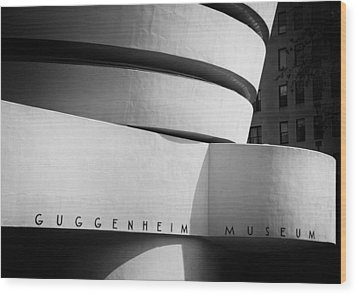 Wood Print featuring the photograph Guggenheim Museum by James Howe