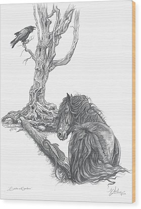 Guides And Guardians Wood Print