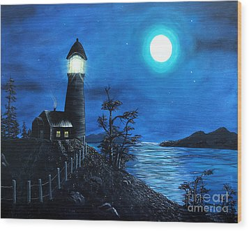 Guiding Lights Wood Print by Barbara Griffin