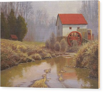 Guilford Mill En Plein Air Wood Print by Jeremy Sams