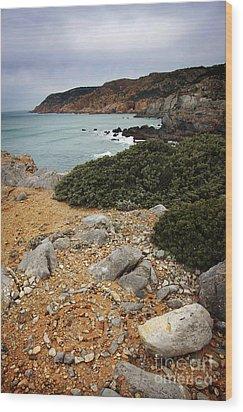 Guincho Cliffs Wood Print by Carlos Caetano