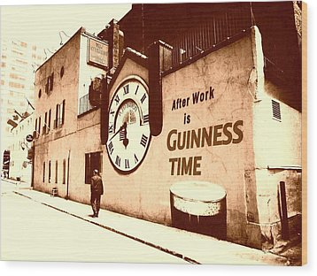 Guinness Time Wood Print