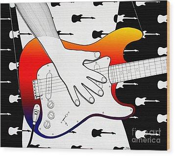 Guitar 1 Wood Print by Joseph J Stevens
