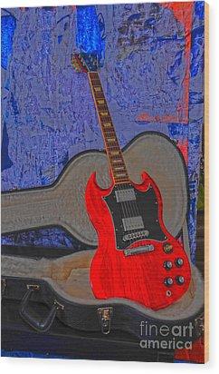 Guitar Art Wood Print by Randi Grace Nilsberg