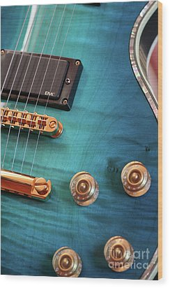 Wood Print featuring the photograph Guitar Blues by Joy Watson