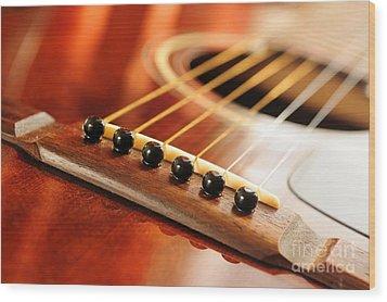 Guitar Bridge Wood Print by Elena Elisseeva