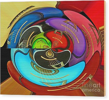 Wood Print featuring the photograph Guitar Circle by Cheryl Del Toro