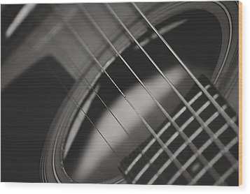 Wood Print featuring the photograph Guitar Detail by Michael Donahue