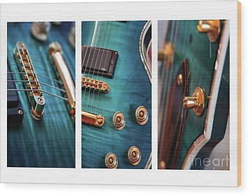 Wood Print featuring the photograph Guitar Life by Joy Watson