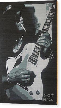 Guitar Man Wood Print by ID Goodall