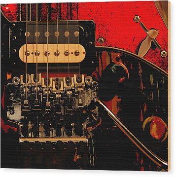 Wood Print featuring the photograph Guitar Pickup by John Stuart Webbstock