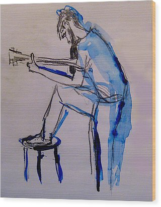 Guitar Player Wood Print by James Gallagher