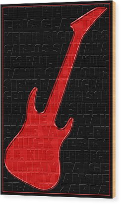 Guitar Players 1 Wood Print by Andrew Fare