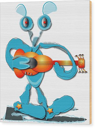 Guitar Rocker Wood Print by Marvin Blaine