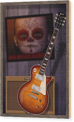 Guitar Scene Wood Print by WB Johnston