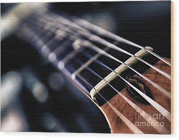 Guitar Strings Wood Print by Stelios Kleanthous
