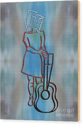 Guitarist Wood Print by Patrick J Murphy