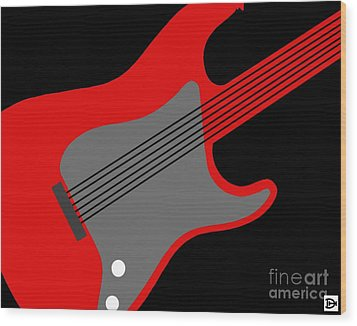 Guitarpop I Wood Print by Andy Heavens