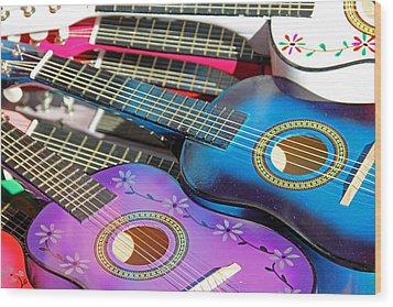 Guitars Wood Print