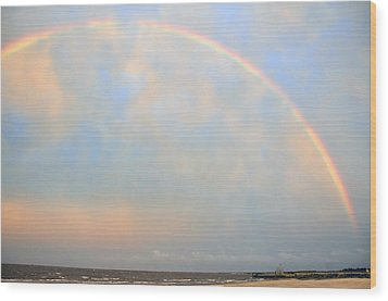 Wood Print featuring the photograph Gulf Coast Rainbow by Charlotte Schafer
