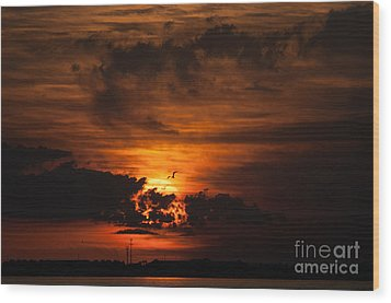 Gulf Coast Sunset 1 Wood Print