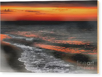 Gulf Coast Sunset Wood Print
