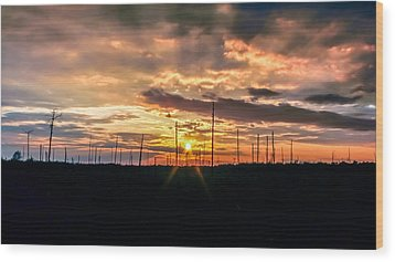 Gulf Shore Sunset Wood Print by Rob Sellers