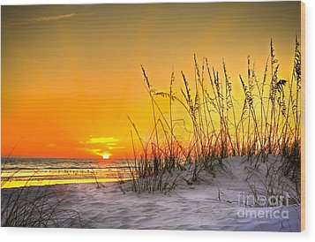 Gulf Sunset Wood Print by Marvin Spates
