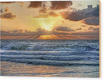 Gulf Waters Wood Print